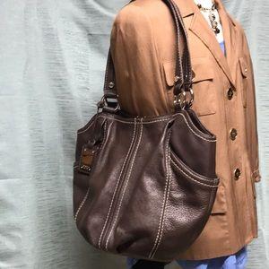 Tiagnanello Leather shoulder purse bag